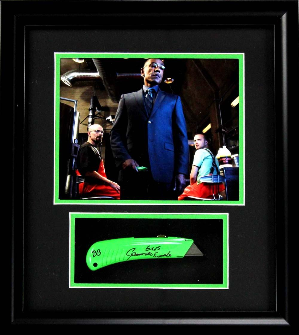 Giancarlo Esposito Signed Breaking Bad AMC Framed Box Cutter With ...
