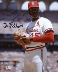 "Bob Gibson St. Louis Cardinals Autographed 8"" x 10"" Pre-Pitch Photograph"