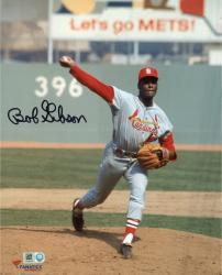 "Bob Gibson St. Louis Cardinals Autographed 8"" x 10"" Ball In Hand Photograph"