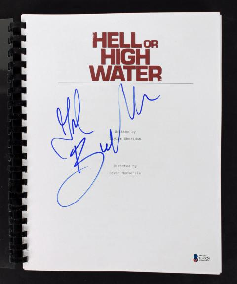 Gil Birmingham Signed Hell or High Water Movie Script BAS #E37924