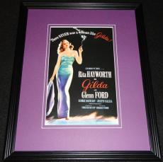 Gilda Framed 11x14 Poster Display Official Repro Rita Hayworth Glenn Ford