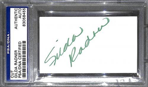 Gilda Radner Signed Cut Index Card PSA/DNA COA Saturday Night Live SNL Autograph