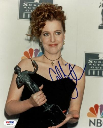Gillian Anderson The X-Files Signed 8X10 Photo PSA/DNA #I85773