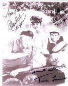 "GILLIGAN ISLAND"" Signed by BOB DENVER, ALAN HALE, JR, & TINA LOUISE, 8x10, B/W Photo"