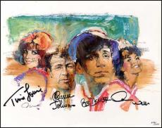 Gilligans Island autographed Lithograph: Bob Denver (Gilligan), Tina Louise (Ginger), Dawn Wells (Mary Ann), & Russell Johnson (The Professor)