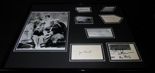 Gilligan's Island Cast Signed Framed 16x20 Photo Display JSA