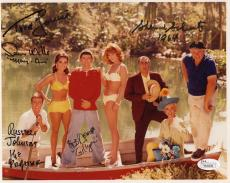 GILLIGAN'S ISLAND HAND SIGNED 8x10 CAST PHOTO      SIGNED BY 5     JSA LETTER
