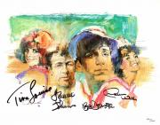 Gilligan's Island Signed - Autographed Lithograph 11x14 inch Photo by Tina Louise, Russell Johnson, Bob Denver, and Dawn Wells - Guaranteed to pass PSA or JSA