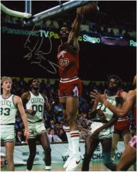 "NBA Chicago Bulls vs Boston Celtics Artis Gilmore Autographed 8"" x 10"" Photograph with A-Train inscription - Mounted Memories"