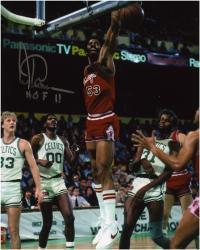"NBA Chicago Bulls Artis Gilmore Autographed 8"" x 10"" Photograph vs. Boston Celtics with HOF Inscription"
