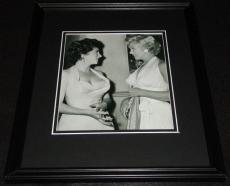 Gina Lollobrigida & Marilyn Monroe Framed 11x14 Photo Display