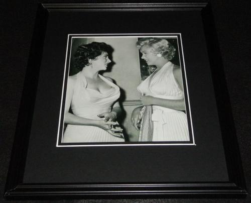 Gina Lollobrigida & Marilyn Monroe Framed 11x14 Photo Display