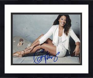 Gina Rodriguez Jane the Virgin Filly Brown Signed 8x10 Photo w/COA A