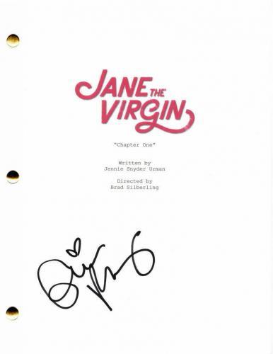 Gina Rodriguez Signed Autograph - Jane The Virgin Pilot Script - Carmen Sandiego