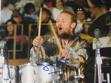 GINGER BAKER of CREAM Signed in Concert Big 11x14 Inch PHOTO w/ PSA DNA