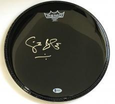 GINGER BAKER Signed Black DRUMHEAD Cream Drummer w/ Beckett Coa