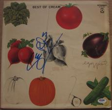Ginger Baker signed Cream LP Album Cover Best of Cream PSA/DNA Auto