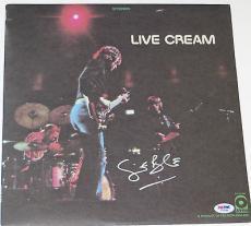 GINGER BAKER Signed LIVE CREAM ALBUM LP w/ Vinyl + PSA DNA Coa