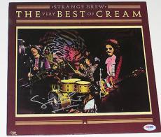 GINGER BAKER Signed STRANGE BREW The Very Best of CREAM ALBUM LP + PSA DNA Coa