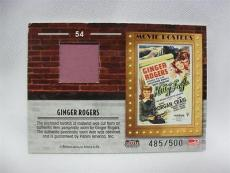 Ginger Rogers 2009 Donruss Americana Movie Posters Swatch #54 485/500