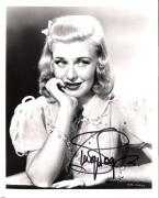 GINGER ROGERS (ACTRESS/DANCER/SINGER) 73 FILMS Many with FRED ASTIRE - Passed Away 1995 Signed 8x10 B/W Photo