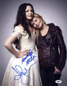 Ginnifer Goodwin Jennifer Morrison SIGNED 11x14 Photo Once Upon A Time PSA/DNA