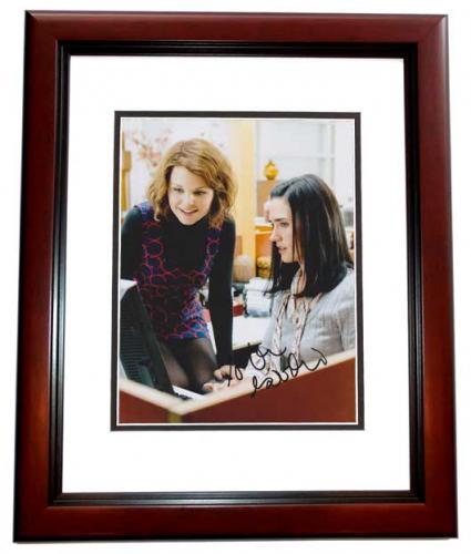 Ginnifer Goodwin Signed - Autographed Actress 8x10 inch Photo MAHOGANY CUSTOM FRAME - Guaranteed to pass PSA or JSA