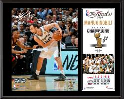 "Manu Ginobili San Antonio Spurs 2014 NBA Finals Champions Sublimated 12"" x 15"" Plaque"