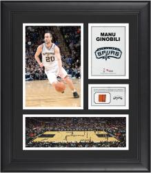"Manu Ginobili San Antonio Spurs Framed 15"" x 17"" Collage with Team-Used Ball"