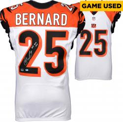 Giovani Bernard Cincinnati Bengals Autographed 2013 Season Game-Used White Jersey