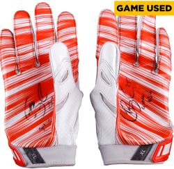 Giovani Bernard Cincinnati Bengals Fanatics Authentic 2013 Season Pair of Game-Used Orange Gloves