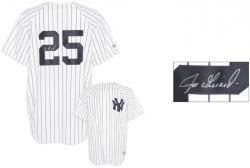 Joe Girardi New York Yankees Autographed White Pinstripe #25 Replica Jersey  - Mounted Memories