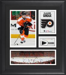 "Claude Giroux Philadelphia Flyers Framed 15"" x 17"" Collage with Game-Used Puck-Limited Edition of 500"