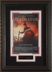 GLADIATOR Russell Crow Signed 11x17 Poster Framed