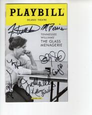 Glass Menagerie Hand Signed Ny City Playbill+coa      Signed By Cast+sally Field