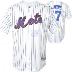 Tom Glavine New York Mets Autographed White Jersey with 3 Inscriptions - Mounted Memories