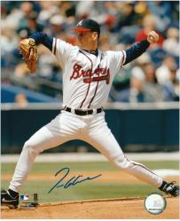 Tom Glavine Atlanta Braves Autographed 8'' x 10'' Pitching Photograph - Mounted Memories