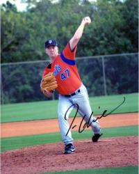 Tom Glavine New York Mets Autographed 8 x 10 Throwing Photograph