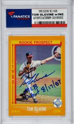Tom Glavine Atlanta Braves Autographed 2004 Donruss #WS-37 Card with Multiple Inscriptions