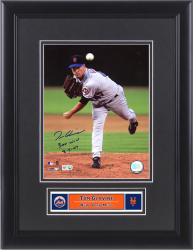 Tom Glavine New York Mets Framed Autographed 8'' x 10'' Photograph with 300 Win Inscription