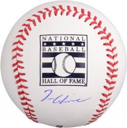 Tom Glavine Atlanta Braves Autographed HOF Logo Baseball