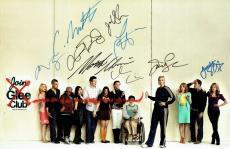 Glee Cast (9) Cory Monteith Signed Authentc 11x17 Photo PSA/DNA LOA #W02973