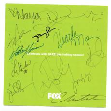 Glee cast signed autographed card! Monteith Salling Michele Lynch! Beckett BAS!