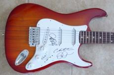 Glee Signed Electric Guitar x3 Agron Riley Cory Monteith PSA Guaranteed