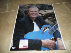 Glen Campbell #2 Huge 16x20 Signed Autographed Photo PSA Certified