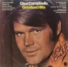 Glen Campbell Autographed Greatest Hits Album Cover - PSA/DNA COA