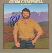 Glen Campbell Autographed Old Home Town Album - PSA/DNA COA