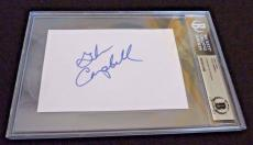 Glen Campbell Autographed Signed 4X6 Index Beckett Certified Rhinestone Cowboy