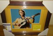 Glen Campbell Music Legend Signed Autographed 13x16 Matted Framed Jsa Coa A