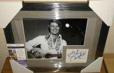 Glen Campbell Music Legend Signed Autographed 13x16 Matted Framed Jsa Coa B